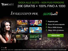 Giochi slot online senza deposito