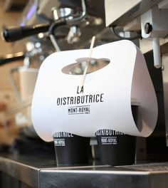 Love this package. La Distributrice: Smallest cafe place in NorthAmerica   The Dieline
