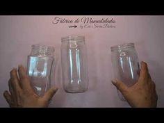 (679) Manualidades con frascos de vidrio. Falsa Cerámica. Diy. - YouTube Mason Jars, Water Bottle, Lily, Glass, Youtube, Reuse, Crochet, Ideas, Glass Vase