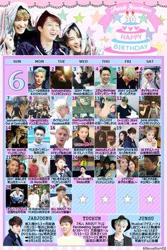 素敵 RT @60suuchun02: ◆JYJ 6月おまとめカレンダー