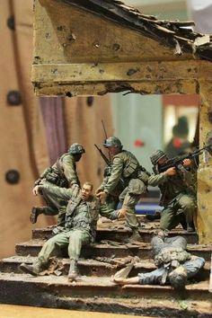 Toy soldier diorama. By Santiago Tre.
