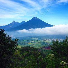 """#Gadv traveller @jeneeslu took a hike up Pacaya Volcano in Guatemala and found this astonishing view waiting for her. #regram"""