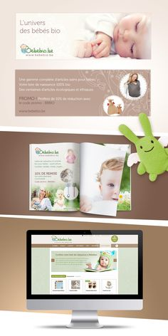 Bébébio - Création flyer, pub magazine, refonte design du site internet. Code Promo, Internet, Magazine, Frame, Design, Organic Baby, Baby List, Projects, Bebe