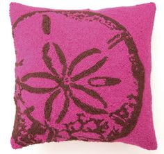 sand dollar pillow again texture & colour always a winner