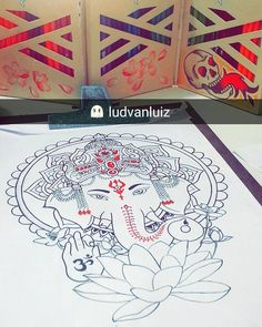 Desenho exclusivo em andamento!! 🎨❤ 👻: ludvanluiz  #draw #drawing #art #ludink #tattoo2me #drawing2me #tattooinkspiration #tattoopl #tattoobh #tguest #TTatuador #designertattoo #exclusivo #ganesha