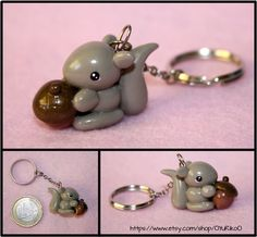 Cute squirrel polymer clay charm by YuRiko  Shop: http://www.etsy.com/shop/OYuRikoO