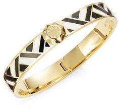 Trina Turk Woven Enamel Bangle Bracelet