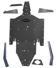 Polaris RZR 900 XP A Arm Trailing guard FULL UHMW skid plate SSS Off Road #POLARISRZR900XP