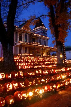 With a little creativity and a lot of pumpkins, one man has turned his small West Virginia town into an international tourist destination. #Halloween