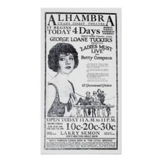 Betty Compson 1922 vintage movie ad poster