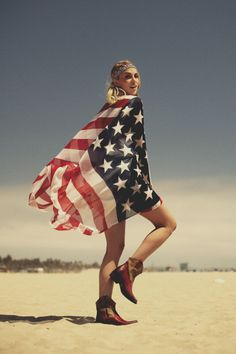 *american flag, I saw a scarf like this the other day.