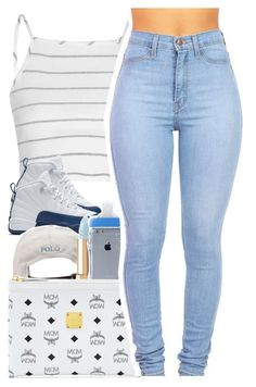 """""""April 13, 2016"""" by uniquee-beauty ❤ liked on Polyvore featuring Glamorous, NIKE, Polo Ralph Lauren, Dolce&Gabbana and MCM"""