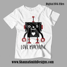 Love Machine SVG  Valentine SVG  Kids Valentines Day T-shirt