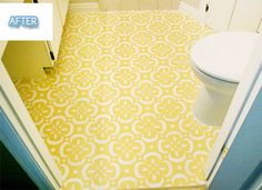 I know these cheap floors are not ideal, but I love the color and pattern! This is acceptable only for a small space!