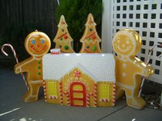 Vintage Union Products Gingerbread Village Blow Mold Set Christmas Blowmolds | eBay