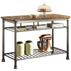 Shop a great selection of The Orleans Kitchen Island Home Styles. Find new offer and Similar products for The Orleans Kitchen Island Home Styles. Industrial Chic Kitchen, Loft Kitchen, New Kitchen, Kitchen Carts, Kitchen Storage, Kitchen Organization, Kitchen Dining, Industrial Furniture, Kitchen Decor