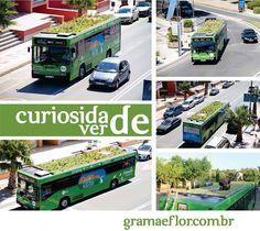 Na cidade de Girana, na Catalunha, Espanha, o paisagista espanhol Marc Grañen colocou jardins nos tetos dos ônibus. O projeto, chamado de Phyto Kinetic, utiliza a água do ar condicionado na irrigação das plantas. Quando a ideia é boa, não custa nada copiar, não é?