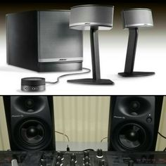 #new #soundsystem #pioneer #monitorspeakers and the #bose #audio set for #pc.    #gooooodlife
