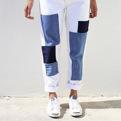 TODAY FEELS LIKE SPRING! THESE WHITE PATCHWORK BEAUTIES ARE ON MY WISH LIST / JEANS FROM AUSTRALIAN BRAND @nawato_au