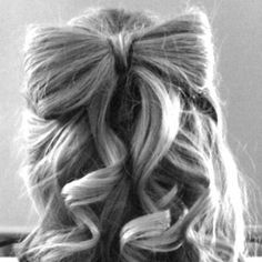 Hair bow- made out of hair:)  Im like obsessed with these lol