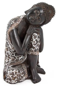 BUDA DORMIDO RESINA 22cm - Zalema Decoracion Ganesha, Buddha Buddhism, Guanyin, Love Craft, Something Beautiful, Feng Shui, Garden Sculpture, Sculpting, Clay