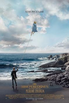Jake walking Emma in this poster from Tim Burton's Miss Peregrine's Home for Peculiar Children 2016. From IMDb
