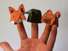Creative: Cute Printable Fnger doll animals via Papercraft and Stuff