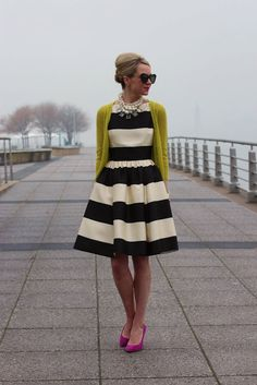 I'm stealing this look for convention :) Got the dress, now just add pink heels, mustard sweater and chunky necklace!