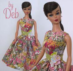 Flower Market - Vintage Barbie Doll Dress Reproduction Repro Barbie Clothes