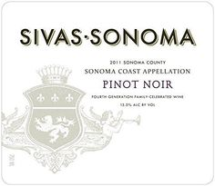 2011 Sivas-Sonoma Pinot Noir 750 mL Wine *** Details can be found at
