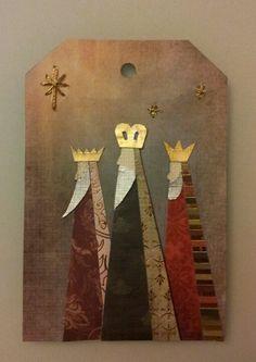 Three Kings Tag Christmas Paintings, All Things Christmas, Kids Christmas, Vintage Christmas, Christmas Crafts, Christmas Ornaments, King Craft, Man Crafts, Three Wise Men
