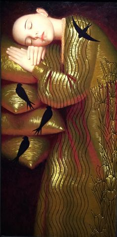 """High Water"" by Andrey Remnev Photo Portrait, Portrait Art, Portraits, Russian Painting, Russian Art, Contemporary Artists, Modern Art, Art Moderne, Gustav Klimt"