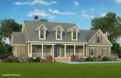 The Baxendale House Plan  **remove the closet in the front bedroom and make it an angled entry into a study.