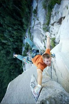 Love the crazy perspective of this image. Only one point of contact!! Yikes!! So awesome!!