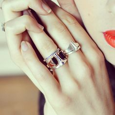 All rings by Bliss Lau, available at bonadrag