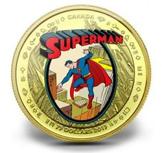 Gold and Silver Canadian Superman Coins