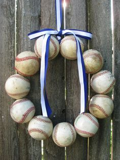Kansas City Royals Baseball Love Wreath.