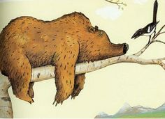 Wolf Erlbruch. The bear and the bird #illustration #bear #bird