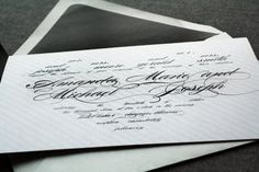 Black and White Invitations Black Tie Wedding by JulieHananDesign