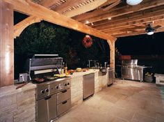 Local Custom Outdoor Kitchens Builders Local Outdoor Fireplaces Builder Outdoors Living Spaces Backyard Company Landscaping Cost. Paver Stone Patio, Paver Stones, Brick Pavers, Landscaping With Rocks, Kitchen Contractors, Patio Kitchen, Outdoor Cooking, Outdoor Living, Houses
