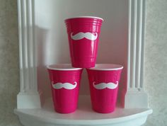 Mustache Glasses  PINK or Red Solo Cup  by YouniquelyElegant #BlackFriday #CyberMonday