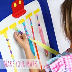 Kids will love this easel fine motor activity and all of the hands-on handwriting activities are a fun way to work on the fine motor skills needed for handwriting.