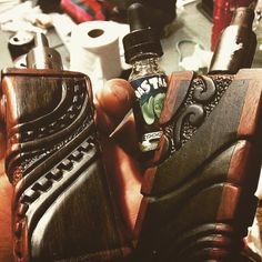 Stunning hand engraved box mods made by @apaka469, now that is talent VAPERBEARD.BIGCARTEL.COM #vape #vaping #vaper #drippers #driptip #vaporizer #coilbuild #coils #rda #Ω #vapelife #rba...