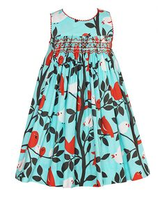 Look at this Light Blue Bird Lisa Babydoll Dress - Toddler on #zulily today!