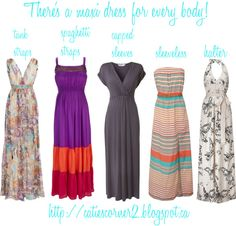 A maxi dress for every body!, created by catiescorner on Polyvore