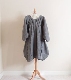 custom pleated vase linen dress handmade by annyschooecoclothing, $130.00
