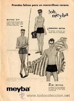 Página Publicidad Original *Bañadores hombre MEYBA · MEYBA ZIP* -Vintage- ---- Año 1959