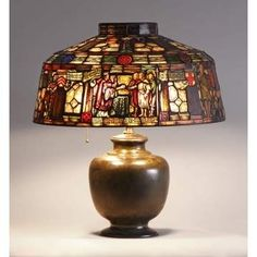 Learn more about Duffner & Kimberly Leaded & Stained Glass Lamp, depicting Magna Carta available at Cottone Auctions. Tiffany Art, Tiffany Lamps, Stained Glass Lamps, Art Nouveau Design, Art Deco Furniture, Unique Lighting, Vintage Lamps, Magna Carta, Light Fixtures