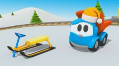 Cartoni animati - Camioncino Leo Junior e lo slittino da neve