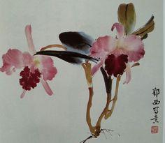 楊鄂西 水墨 Japanese Artwork, Japanese Painting, Japanese Prints, Chinese Painting, Chinese Art, Chinese Brush, Sumi E Painting, Love Painting, Fabric Painting